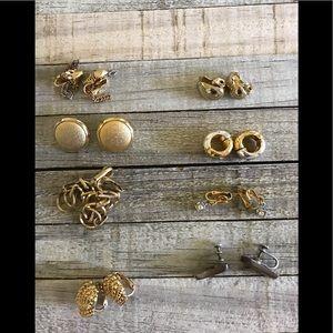 8 Pairs Clip Earrings